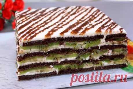 Великолепный торт без выпечки: такой нежный, мягкий и пропитанный Готовлю такой торт даже на праздник!