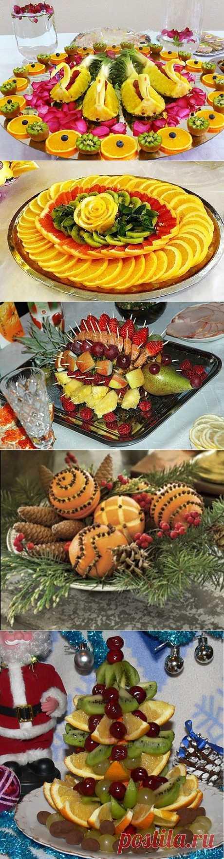 Идеи оформления фруктовых тарелок / Простые рецепты