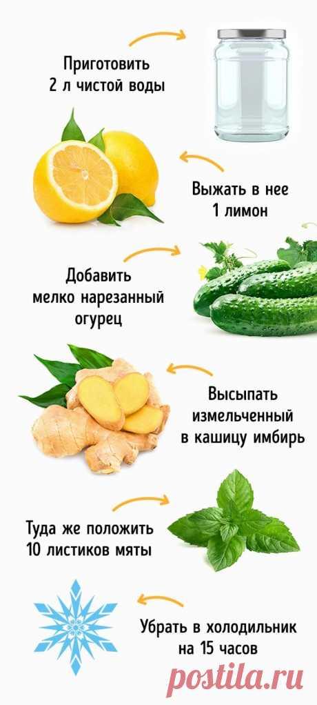 7 легких напитков, которые помогут распрощаться с лишним весом   Диеты со всего света
