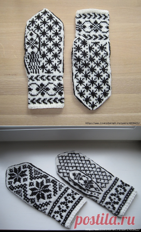 Mittens spokes — two schemes of patterns.