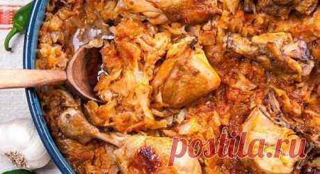 Тушёная капуста с курицей: супер вкусный и простой ПП-ужин!