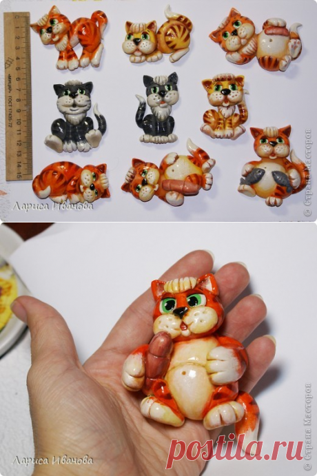 Коты-магниты (МК по росписи)