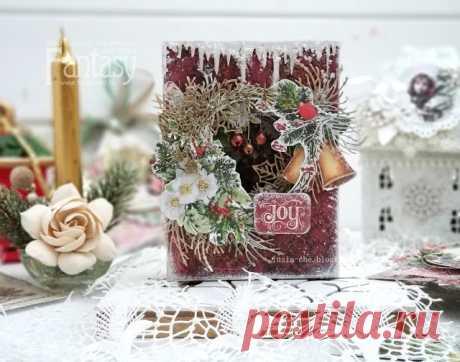 Мечтать не вредно: МК Зимняя открытка-туннель мастер класс по зимней открытке, мастер класс по открытке туннель, новогодняя открытка, открытка ручной рабоы