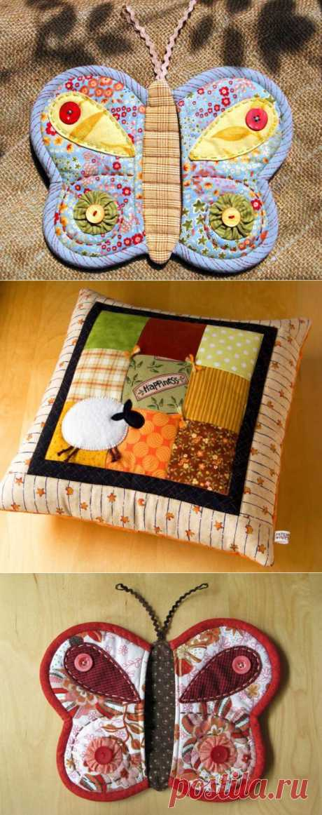 Patchwork - a cosiness from textile rags.