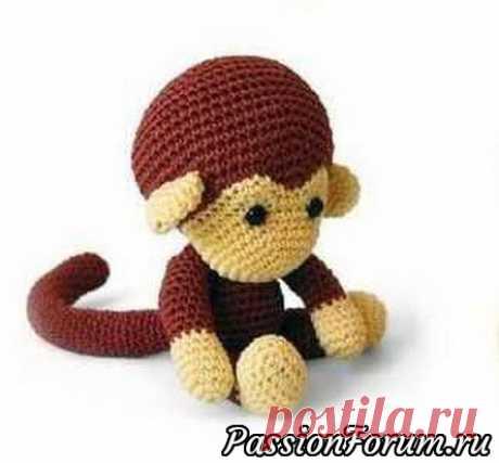 Вяжем милую обезьянку крючком | Вязаные игрушки. Мастер-классы, схемы, описание.