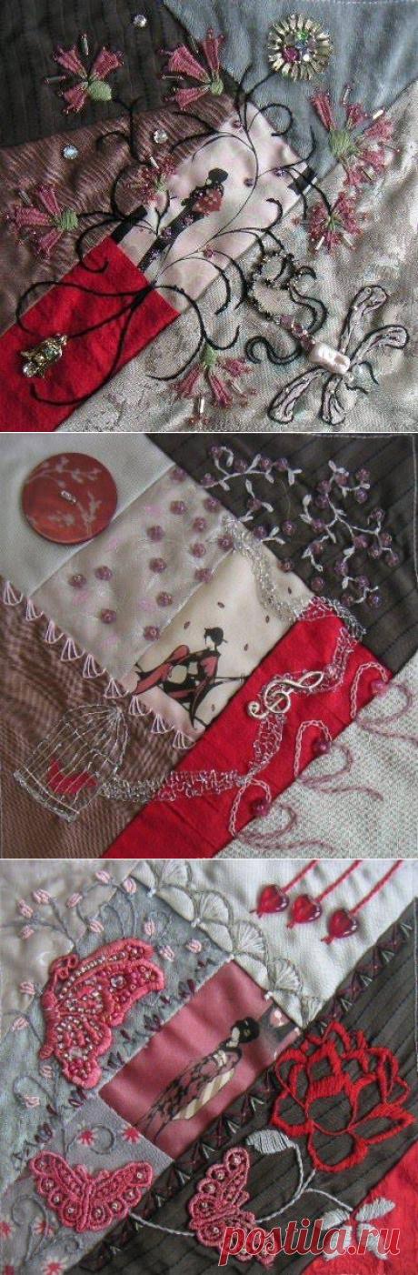 Крейзи-квилт от Нideko из Японии