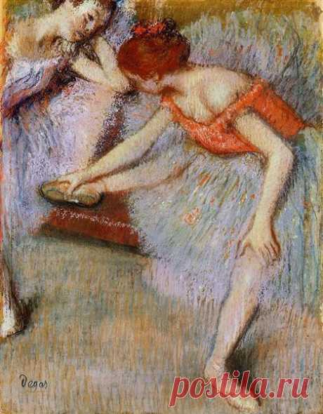 Dancers, 1895 - Edgar Degas - WikiArt.org Dancers, 1895 by Edgar Degas. Impressionism. genre painting. Private Collection