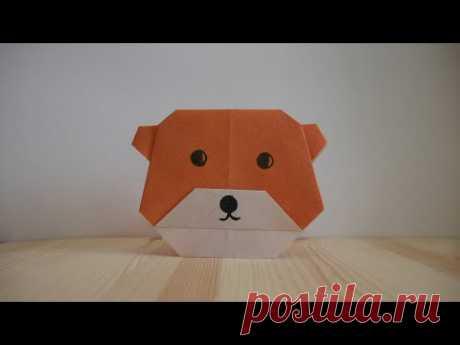 Оригами. Как сделать медведя из бумаги (видео урок) - YouTube
