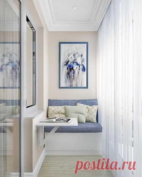 Светлые идеи дизайна для балкона и лоджии