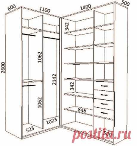 Угловые шкафы-купе для спальни | Роскошь и уют