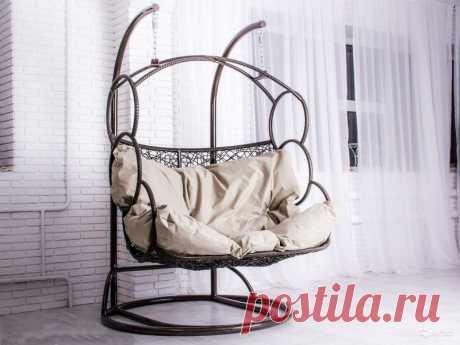 """Купить подвесное кресло """"Дабл"""" в Украине из ротанга"""