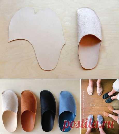 Тапочки из одной детали с закрытым носком делается очень просто.  Для ее построения потребуется взять маркер и подходящую плотную ткань (например, войлок или флис).