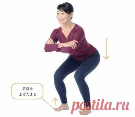 Подошвенное упражнение «Цурай» от возрастных изменений ног и для похудения | LadyFIT | Яндекс Дзен
