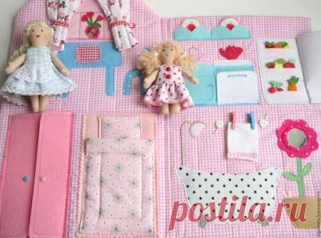 Сшить кукольный домик мастер класс