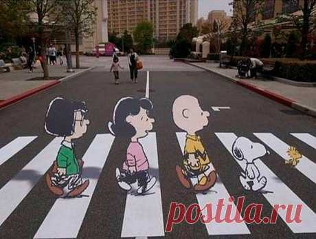Креативный пешеходный переход