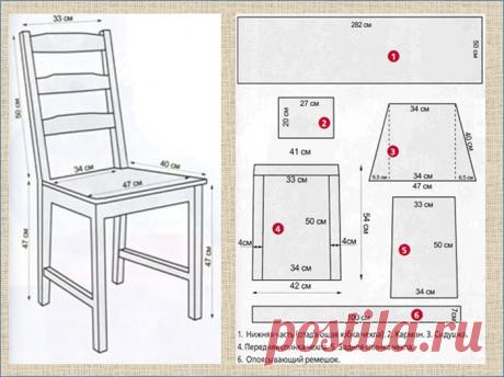 Как стать дизайнером своей кухни? - Очень просто - надо только сшить новые чехлы на стулья | МНЕ ИНТЕРЕСНО | Яндекс Дзен