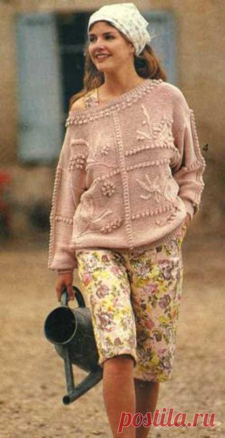 Пуловер. Вязание спицами для женщин. Узелок.ру