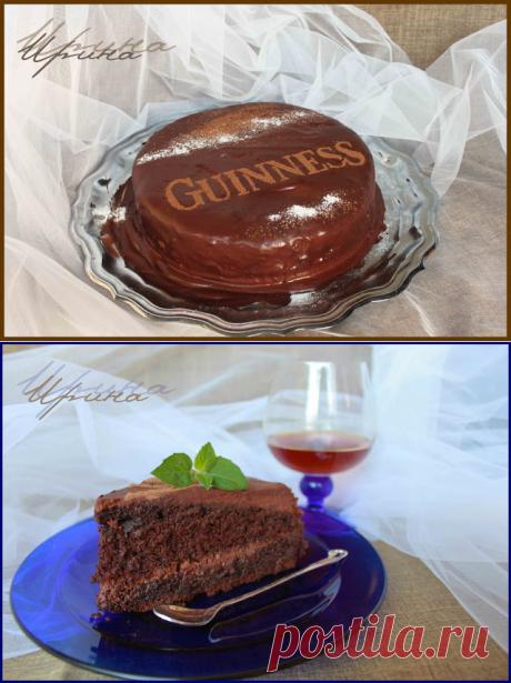 Sorbet: Торт Guinness На Темном Пиве, роскошный шоколадный торт с кофейно-шоколадным кремом