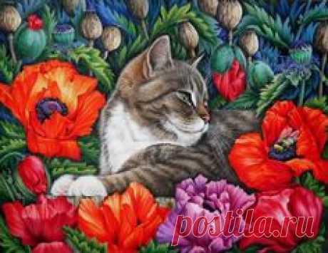 Las gatas \/ la Pintora Irina Garmashova (Irina Garmashova).