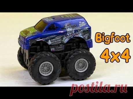 Monster truck toy for kids. Bigfoot Monster Truck for children. Video for kids - YouTube