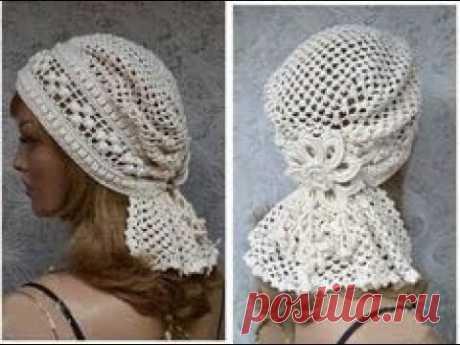DURAG/Lace Crocheted Hat Bandana