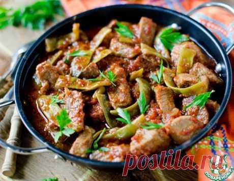 Гуляш из свинины с зеленой фасолью – кулинарный рецепт
