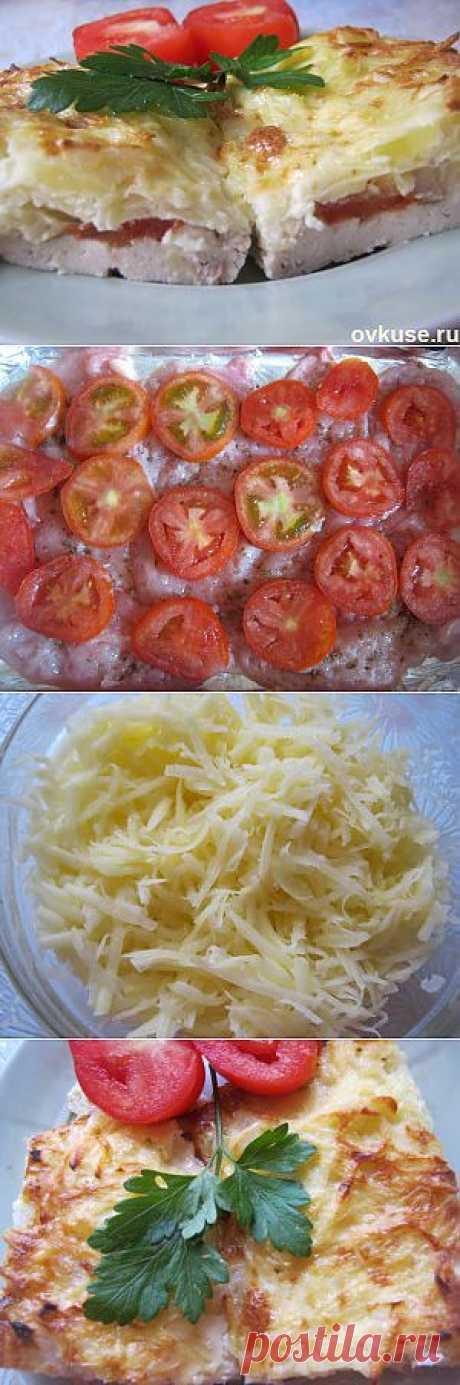 Курица запеченная под тертым картофелем - Простые рецепты Овкусе.ру