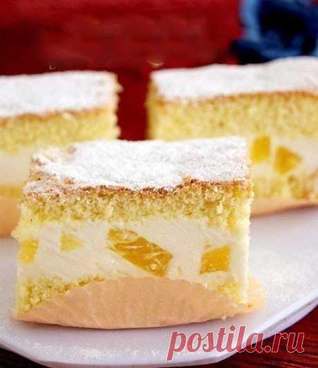 Торт с нежнейшим творожным кремом — Sloosh – кулинарные рецепты