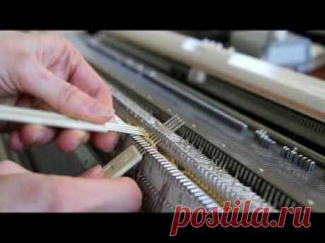 . Широкие косы на двухфонтурной вязальной машине - Машинное вязание - Страна Мам