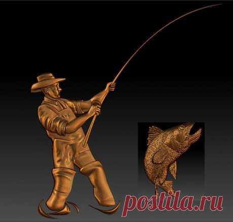 памятник рыбак под заказ от 25000  89045471839