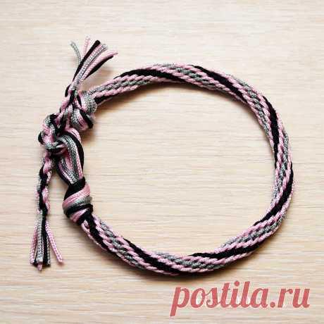 Объёмный браслет Кумихимо из 16 нитей | Рукоделие от OvechkaMaster.ru | Яндекс Дзен