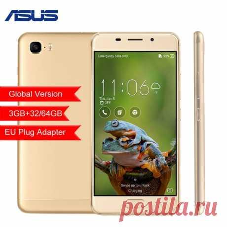 """Глобальная версия ASUS Zenfone 3 S Max ZC521TL 5,2 """"3 ГБ 32 ГБ 64 ГБ Восьмиядерный Android 7,0 5000 мАч мобильного телефона купить на AliExpress"""