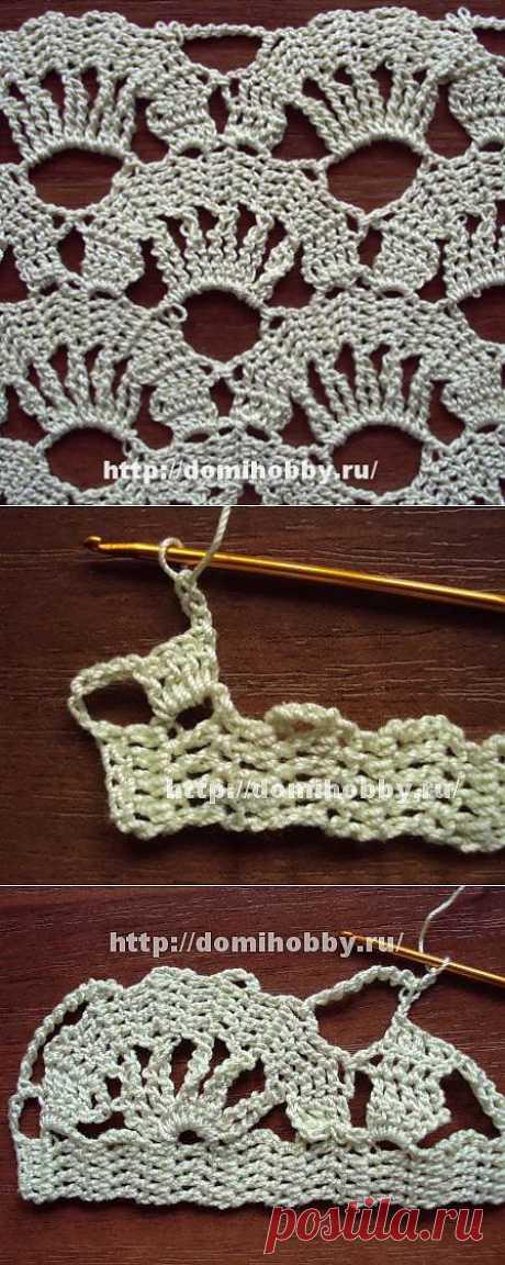 Beautiful pattern of Bryuggsky lace. Photo master class.