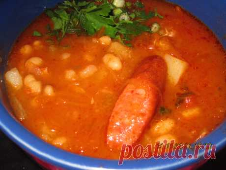 Фасолевый суп по - Верховински