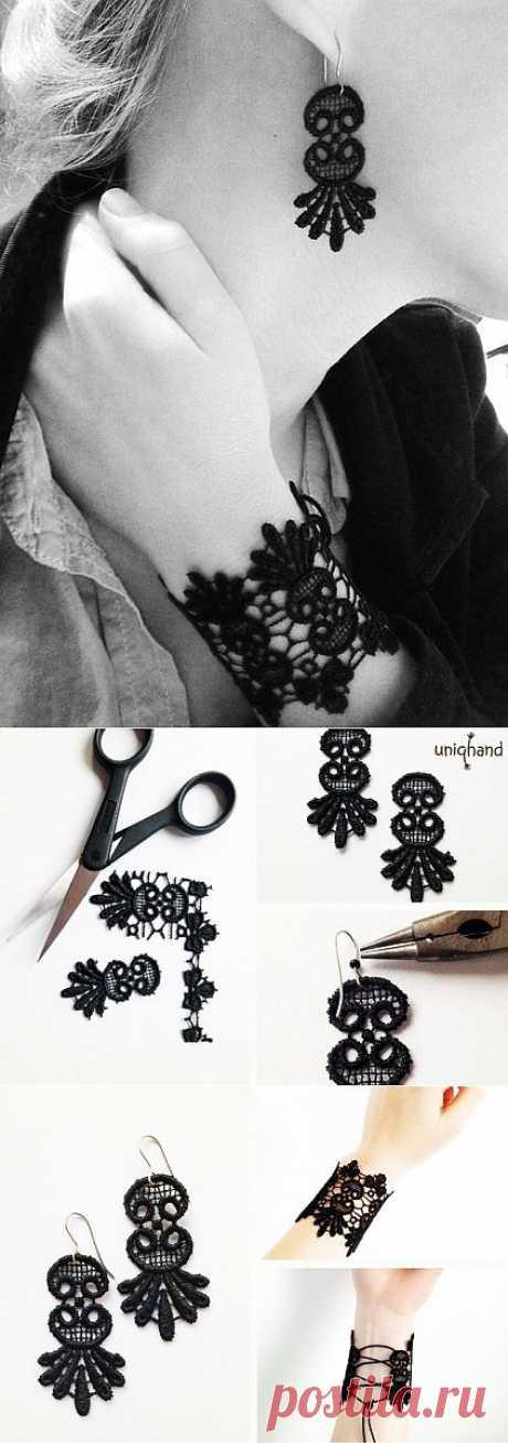 Браслет и серьги из кружева мастер-класс / Кружево / Модный сайт о стильной переделке одежды и интерьера