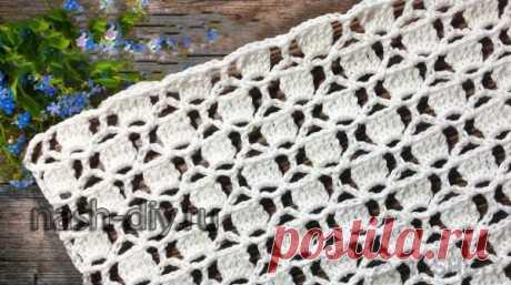 Сетчатый узор крючком для кардиганов Сетчатый узор крючком для кардигановАжурный сетчатый узор крючком для кардиганов, топов, жилетов, пуловеров Шестиугольники