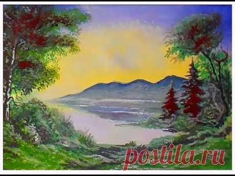 Как нарисовать весенний пейзаж гуашью #2. Как нарисовать весну