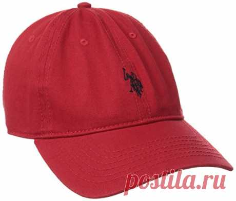 U.S. Polo Assn. Men's Small Solid Horse Adjustable Cap, Red, One Size at Amazon Men's Clothing store: