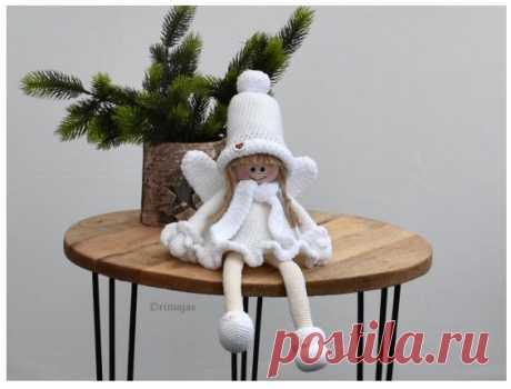 Das winterkind Martha Вязаная крючком кукла в зимнем наряде «Das winterkind Martha». Схема на немецком