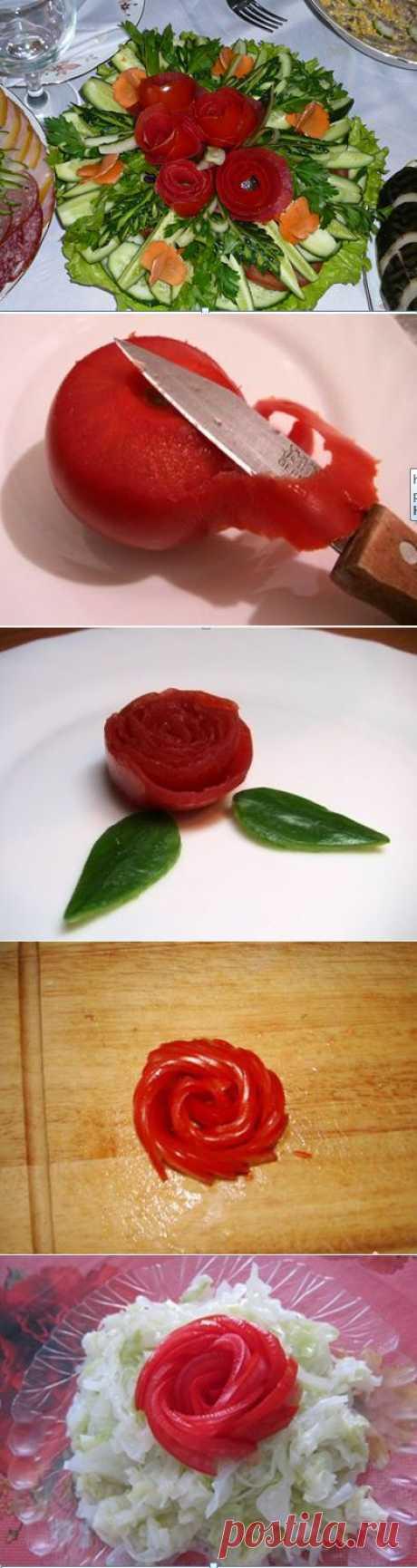 Розочки из помидоров | Рецепты моей мамы