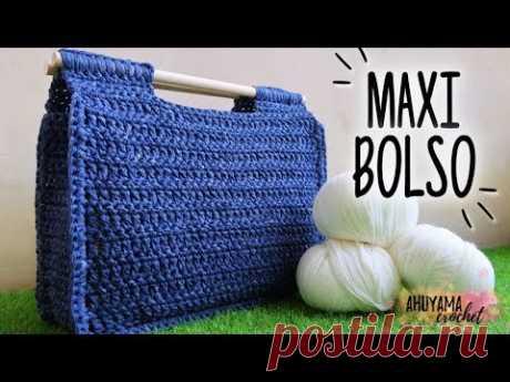 Cómo tejer BOLSO A CROCHET | tutorial PASO A PASO | Ahuyama Crochet