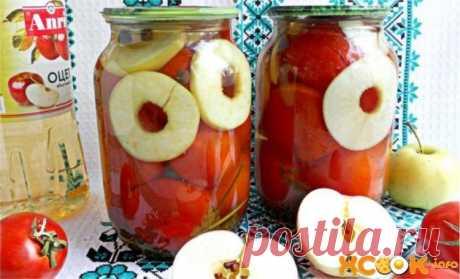 Помидоры с яблоками на зиму — пошаговый рецепт маринования с фото