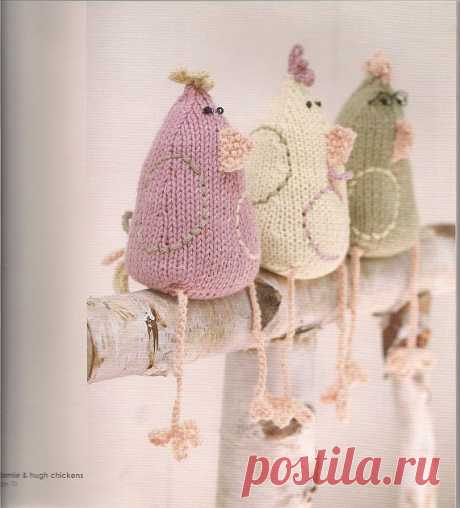 Three chickens \/ Knitted toys. Master classes, schemes, description. \/ PassionForum - master classes in needlework
