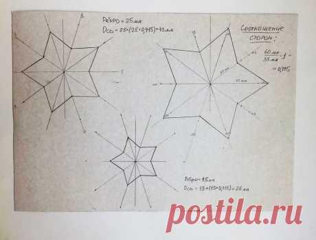 Как сделать шаблон звезды за 10 минут – Ярмарка Мастеров
