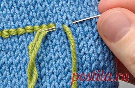 Приёмы украшения вязаного полотна вышивкой со схемами | Создавай сам | Яндекс Дзен