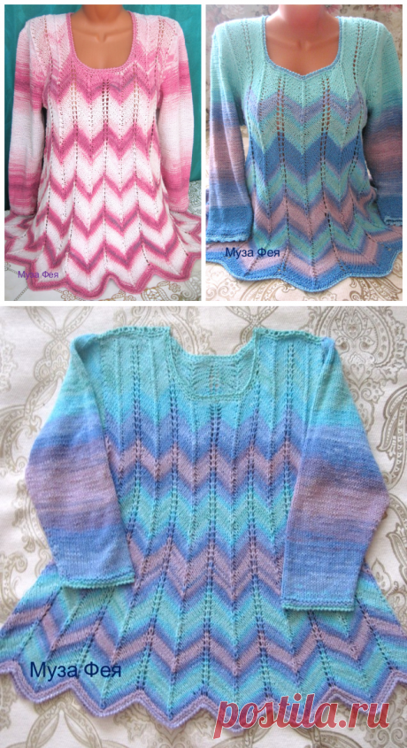 Пуловеры Миссони на спицах