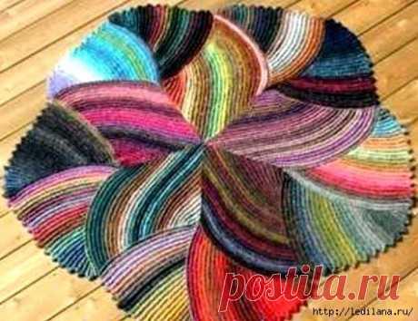 Оригинальный круглый коврик