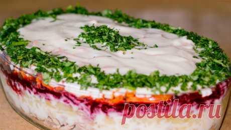 Сытный слоеный салат «Корель»: попробовав его, все просят рецепт! — 1001 СОВЕТ