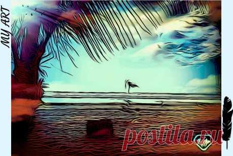 #фото #фоторетушь #фототворчество #фотоарт #фотоискусство #photodirector  Отретушировано с помощью PhotoDirector 365. Была на Самуи в Тайланде и сфотографировала пляж. Вот такая интересная вышла фотокартина.  Вы можете тоже начать делать незабываемые и уникальные фото с помощью этой программы.