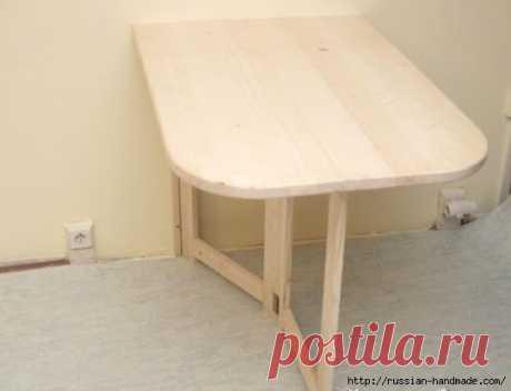 Складной столик для маленькой кухни. Своими руками